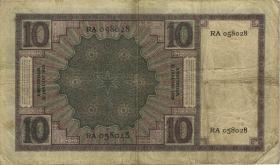 Niederlande / Netherlands P.043b 10 Gulden 31.1.1929 (4)