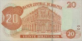 Bolivien / Bolivia P.244 20 Bolivianos (2015) (1)