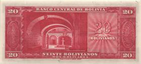 Bolivien / Bolivia P.140a 20 Bolivianos L. 1945 (1)