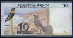 Bolivien / Bolivia P.neu 10 Bolivianos (2018) (1)