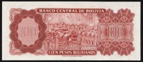 Bolivien / Bolivia P.157 100 Pesos Bolivianos 1962 (1)