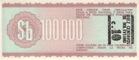 Bolivien / Bolivia P.197 10 Centavo auf 50.000 Pesos Bolivianos 1987 (1)