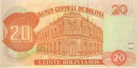 Bolivien / Bolivia P.205c 20 Bolivianos (1997) (1)