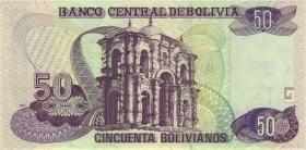 Bolivien / Bolivia P.220 50 Bolivianos (1995) (1)