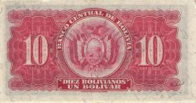 Bolivien / Bolivia P.130 10 Boliviano L. 1928 (1-)