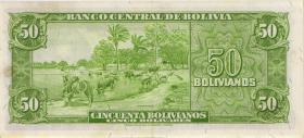 Bolivien / Bolivia P.141 50 Bolivianos L. 1945 (1)