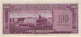 Bolivien / Bolivia P.142 100 Bolivianos L. 1945 (1)