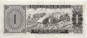 Bolivien / Bolivia P.152 1 Peso Boliviano 1962 (2+)