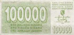 Bosnien & Herzegowina / Bosnia P.031 100.000 Dinara 1993 (3-)