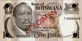 Botswana P.01-05 CS1 1-20 Pula (1976) Specimen (1)