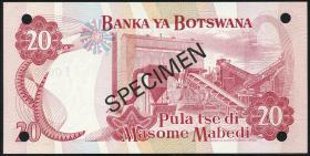 Botswana P.05b 20 Pula (1976) Specimen E/1 000000 (1)