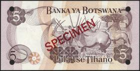 Botswana P.08s2 5 Pula (1982) Specimen C/6 000000 (1)