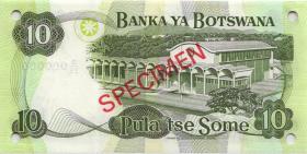 Botswana P.09s4 10 Pula (1982) Specimen D/26 000000 (1)