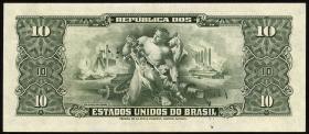 Brasilien / Brazil P.143  10 Cruzeiros (1950) (1)