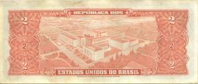 Brasilien / Brazil P.157 2 Cruzeiros (1955) (1-)