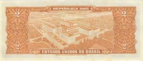 Brasilien / Brazil P.157Aa 2 Cruzeiros (1956-58) (1)