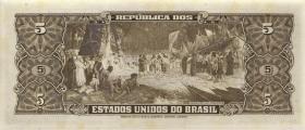 Brasilien / Brazil P.158d 5 Cruzeiros (1953-59) (1)