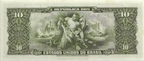 Brasilien / Brazil P.159f 10 Cruzeiros (1953-60) (1)