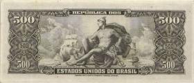 Brasilien / Brazil P.164d 500 Cruzeiros (1955-60) (1/1-)