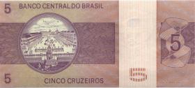 Brasilien / Brazil P.192c 5 Cruzeiros (1974) (1)