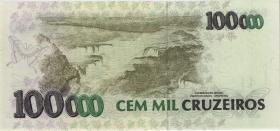 Brasilien / Brazil P.235c 100.000 Cruz. (1993) (1)