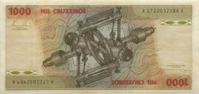 Brasilien / Brazil P.197b 1000 Cruzeiros (1978-80) (2)