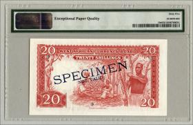 British West Africa P.10s 20 Shillings 1957 Specimen (1)