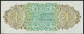 British Honduras P.28b 1 Dollar 1969 (2)