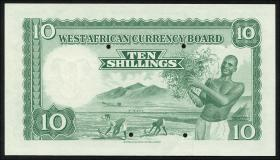 British West Africa P.09s 10 Shillings 1953 Specimen (1)
