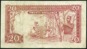 British West Africa P.10a 20 Shillings 1954 (3)