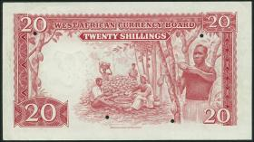 British West Africa P.10s 20 Shillings 1953 Specimen (1/1-)