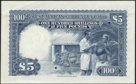 British West Africa P.11as 100 Shillings 1953 Specimen (2)