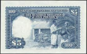 British West Africa P.11b 100 Shillings 1954 (1)