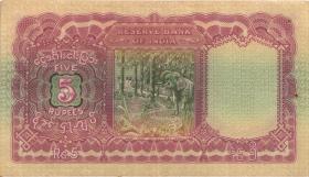 Burma P.04 5 Rupien (1938) (3+)