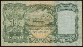 Burma P.05 10 Rupien (1938) (1-)