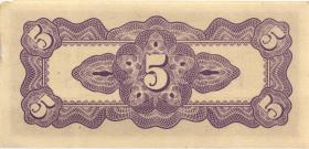 Burma P.10a 5 Cents (1942) Japan. Besetzung (1)