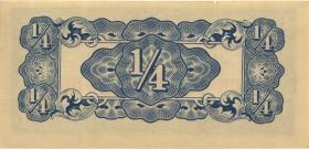 Burma P.12a 1/4 Rupie (1942) Japan. Besetzung (1)