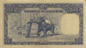 Burma P.36 10 Rupien (1949) (3+)