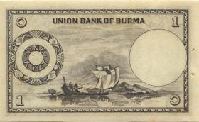 Burma P.42 1 Kyat (1953) (2+)