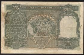 Burma P.33 100 Rupien (1947) Burma Currency Board (3-)