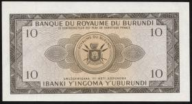 Burundi P.09 10 Francs 31.12.1965 (1)