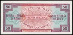 Burundi P.22b 50 Francs 1970 (1)