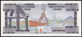 Burundi P.32d 5000 Francs 1995 (1)