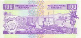 Burundi P.37a 100 Francs 1993 (1)