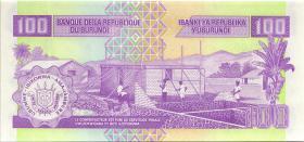 Burundi P.37d 100 Francs 2004 (1)