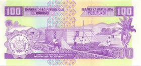 Burundi P.37f 100 Francs 2007 (1)