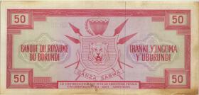 Burundi P.11a 50 Francs 1.5.1965 (2)