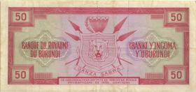 Burundi P.11a 50 Francs 1.10.1964 (3)