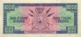 Burundi P.12a 100 Francs 1.10.1964 (3+-)