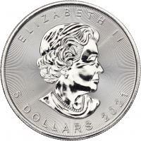 Canada Silber-Unze 2021 Maple Leaf